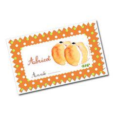 Etiquettes pour confiture d'abricot - Dans mon bocal