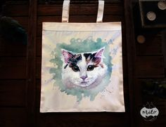 Welcome in my forest workshop! :) I create lovely illustrations and paintings on tote bags and backpacks. The paintings are handmade and indelible. Every single bag is uniqe and original. Due to painting techniqe it might be slightly different, from the one in pictures.  - size: 38x42 cm, (14.96in x 16.53in) handles are 78 cm (30.70in) long. - Material - 100% Natural cotton eco (160gsm) and textile paint. - Care - Machine wash in cold water on gentle cycle, or wash by hand. Do not use…