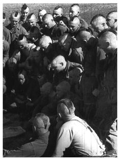 Mohawks as worn by WWII US Paratroopers; photo taken in France, March 23, 1945.