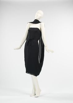 Cocktail Dress (attributed) House of Givenchy (French, founded 1952) Designer: (attributed) Hubert de Givenchy (French, born Beauvais, 1927) Date: ca. 1955