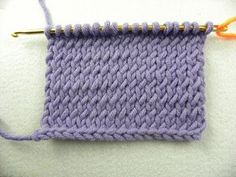 Knooking - Glatt rechts verschränkt - hatnut Wolle von Pro Lana