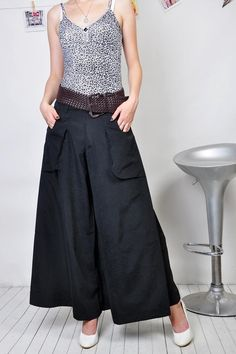 Summer plus size culottes fashion wide leg pants women's full length trousers-inPants & Capris from Apparel & Accessories on Aliexpress.coms...