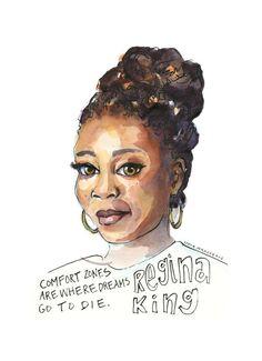 Portfolio — Artist Lydia Makepeace Female Portrait, Female Art, King Quotes, Epic Quotes, Human Instincts, Regina King, Women Poster, Audre Lorde, Black Actresses