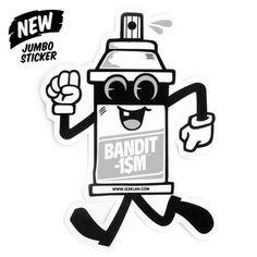 "#lang1: Mr Spraycan Jumbo Graffiti sticker This jumbo graffiti sticker represents Mr Spraycan mascot, one of 123klan's iconic design. Dimensions: 6″ x 4,5″ (15 x 11cm) #lang2: meta charset=""utf-8"" />"