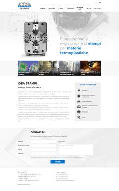 Idea Stampi è una azienda che progetta e realizza stampi ad iniezione per la produzione di pezzi termoplastici di precisione con elevate esigenze estetiche.  #webdesign #website #weblayout