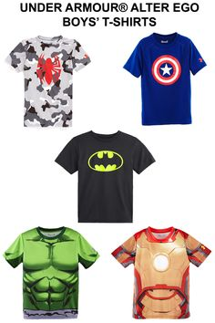 43c55b1772 Boys  Under Armour Alter Ego T-shirts perfect for superhero loving boys for  summer