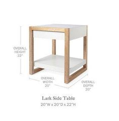 Serena & Lily Lark Side Table | Domino
