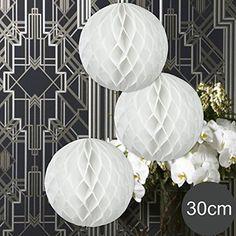 Schöne Idee als Hochzeitsdeko, Deko Hochzeit  - 3 x Honeycomb WABENBÄLLE Supreme EinsSein® weiss DM 30cm ... https://www.amazon.de/dp/B01BHVKAEQ/ref=cm_sw_r_pi_dp_x_p2s0ybT5SDT8R