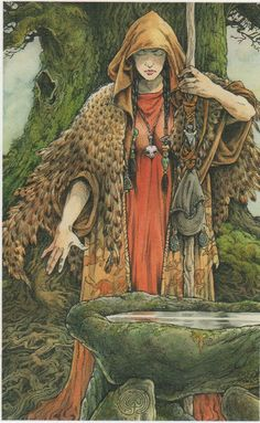 Will Worthington Art ~ print of The Green Woman from Wildwood Tarot