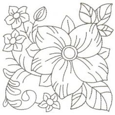 Embroidery Pattern from RW Floral Blocks via OregonPatchWorks jwt
