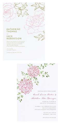 Shop beautiful wedding invitations at every price point! | Brides.com