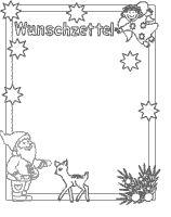 wunschzettel zum ausdrucken - kostenlose vorlage | basteln zu weihnachten | weihnachten basteln