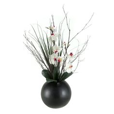 Have to have it. D and W Silks Lighted Orchids in Resin Ball $137.99