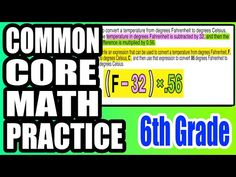✪ Writing Expressions for Fahrenheit & Celsius | 6th Grade Common Core Math - YouTube
