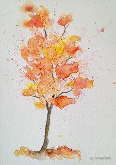 Árvore 4 / tree 4,  aquarela / watercolor 21 x 15 cm - 40 trees project By Adriana Galindo - drigalindo1@gmail.com