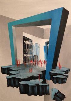 "Saatchi Online Artist Eka Peradze; Painting, ""road. 3D Painting. 50x70cm. #88."" #art"
