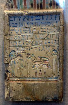 Stela showing four women. MMA tomb 741, Lower Asasif. MMA 36.3.270.