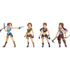 Evolution of Lara Pixel Artist: Hendry Roesly