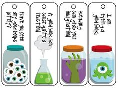 Mad Scientist inspired bookmarks!