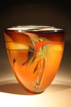 by Patrick Casanova.hand-made from Patrick Casanova. Blown Glass Art, Art Of Glass, Glass Vessel, Glass Ceramic, Glas Art, Glass Design, Colored Glass, Fused Glass, Stained Glass
