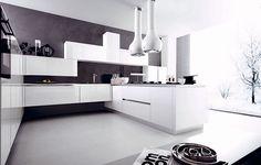 Modello di cucina moderna con penisola n.41