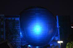 9/21 のスタート 名古屋市科学館もライトアップ 撮影:高橋祥明