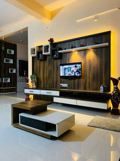 Lcd Wall Design, House Wall Design, Living Room Partition Design, Ceiling Design Living Room, Bungalow House Design, Home Room Design, Latest Tv Unit Designs, Modern Tv Unit Designs, Living Room Tv Unit Designs
