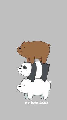 We bare bears Cute Panda Wallpaper, Cartoon Wallpaper Iphone, Bear Wallpaper, Cute Disney Wallpaper, We Bare Bears Wallpapers, Panda Wallpapers, Cute Cartoon Wallpapers, Ice Bear We Bare Bears, We Bear