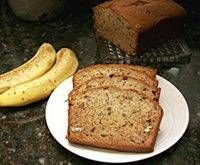 Banana Nut Bread.  YUMMY!  I only made a half-batch since it was my first try.  Wish I had made a double batch!