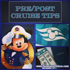 Pre/Post Cruise Tips for Disney Cruise Line. Ideas on accomodations and car rentals before and after your Disney Cruise vacation. Informations About D Disney Magic Cruise, Disney Wonder Cruise, Disney Fantasy Cruise, Disney Cruise Ships, Cruise Tips, Cruise Travel, Cruise Vacation, Disney Vacations, Disney Travel