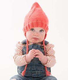 Cutie Pointed Hat Free Knitting Pattern in Red Heart Baby Hugs Yarn