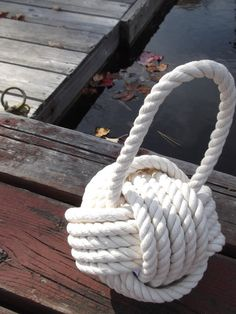 Cotton Nautical Doorstop  with Handle  great by KarensRopeWork