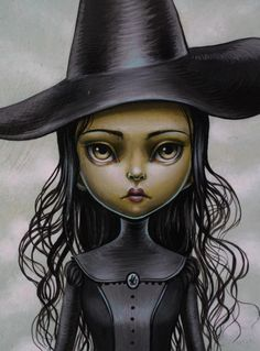 ' Elphaba (detail) ' by Mab Graves