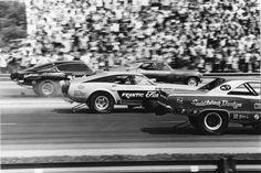 Four lane Funny Car Drag Racing