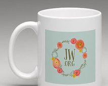 Custom JW.ORG Floral Mug