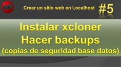 Instalar plugin xcloner. Hacer backups xcloner. Vídeo #5