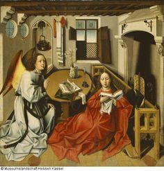 Die Verkündigung an Maria Künstler: Robert Campin (1375 - 1444), Kopie nach Datierung: Jahrzehnt nach 1500