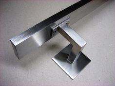 Edelstahl V2A Handlaufträger Handlauf Halter Halterung eckig für Vierkantrohr   Heimwerker, Eisenwaren, Möbelbeschläge & -griffe   eBay!