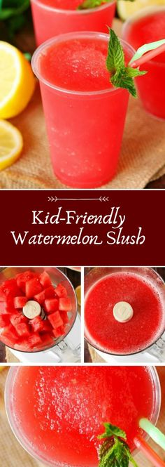 Watermelon Slush Kid-Friendly Watermelon Slush Homemade baby foods,Kid-Friendly Watermelon Slush Homemade baby foods, How about a Beet Smoothie, people? I know it might sound strange, but it is a true delight. This smoot. Kid Drinks, Non Alcoholic Drinks, Watermelon Alcoholic Drinks, Watermelon Summer Drinks, Watermelon Slushie, Beverages, Cocktails, Kids Meals, Easy Meals