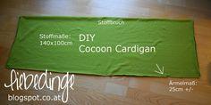 DIY cocoon cardigan