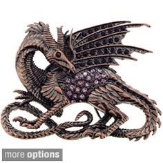 A detailed flying dragon design adorned with crystals in your choice of purple…                                                                                                                                                                                 More