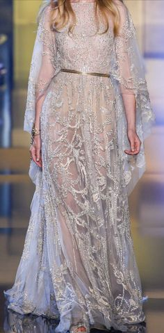 Elie Saab Fall Couture 2015 White dress