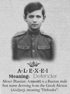 ALEXEI.....Tsarevich Alexei Nikolaevich Romanov of Russia.A♥W