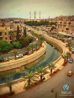 Alazizia street - kouek river - Aleppo city - Syria