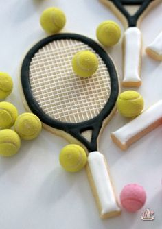 Tennis Racket Cookie How To from  Sweetopia Sugar Cookies a0a6c79bea221
