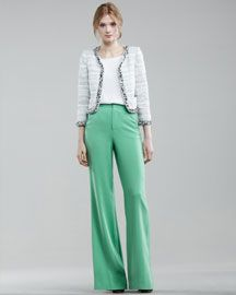 Stacey Bendet's known for her flattering pants.  This pair from Alice + Olivia will make others green with envy. The jacket's pretty fetching, too.