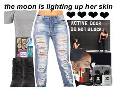 """""""Do not block"""" by laylay143domo ❤ liked on Polyvore featuring Boohoo and Timberland"""