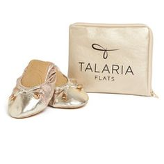 Talaria Flats - Premium Champagne Flats make a terrific gift for your bridesmaids! Keep them dancing in comfort and style all night!