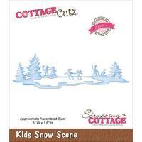 CottageCutz Elites Die - Kids Snow Scene