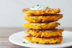 5-Ingredient Butternut Squash Fritters - Skinny Ms.